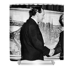 Andre Malraux (1901-1976) Shower Curtain by Granger