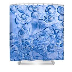 Blue Abstract Shower Curtain by Frank Tschakert