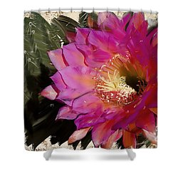Cactus Flower  Shower Curtain by Jim and Emily Bush