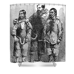 Charles Francis Hall Shower Curtain by Granger
