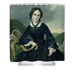 Charlotte Bront� Shower Curtain by Granger
