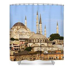 City Of Istanbul Shower Curtain by Artur Bogacki