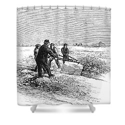 Cutting Ice, C1870 Shower Curtain by Granger