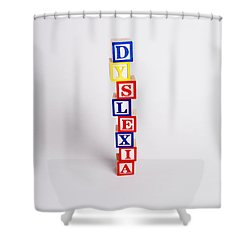 Dyslexia Shower Curtain by Photo Researchers, Inc.