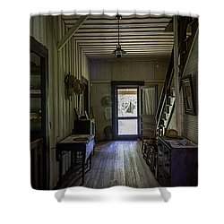 Farmhouse Entry Hall And Stairs Shower Curtain by Lynn Palmer