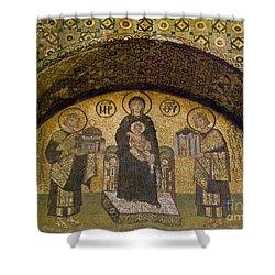 Hagia Sophia: Mosaic Shower Curtain by Granger