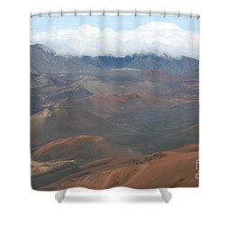 Haleakala Volcano Maui Hawaii Shower Curtain by Sharon Mau