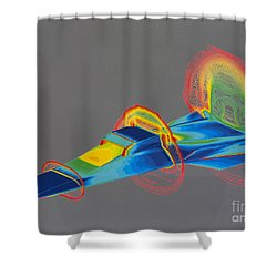 Hyperx Hypersonic Aircraft Shower Curtain by Science Source
