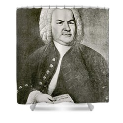 Johann Sebastian Bach, German Baroque Shower Curtain by Photo Researchers