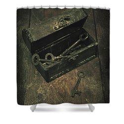 Keys Shower Curtain by Joana Kruse