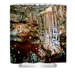 Nerja Caves In Spain Shower Curtain by Artur Bogacki