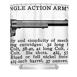 Revolver, 19th Century Shower Curtain by Granger