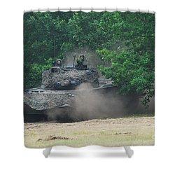 The Leopard 1a5 Main Battle Tank Shower Curtain by Luc De Jaeger
