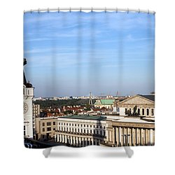 Warsaw Cityscape Shower Curtain by Artur Bogacki