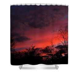 2012 Sunrise In My Back Yard Shower Curtain by Paul SEQUENCE Ferguson             sequence dot net