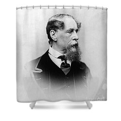 Charles Dickens (1812-1870) Shower Curtain by Granger