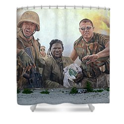 29 Palms Mural 2 Shower Curtain by Bob Christopher