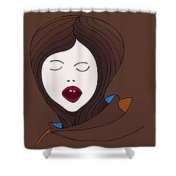A Woman Shower Curtain by Frank Tschakert