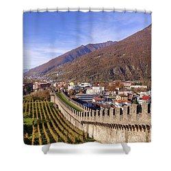 Castelgrande - Bellinzona Shower Curtain by Joana Kruse