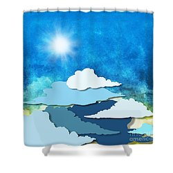 Cloud And Sky Shower Curtain by Setsiri Silapasuwanchai