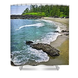 Coast Of Pacific Ocean In Canada Shower Curtain by Elena Elisseeva