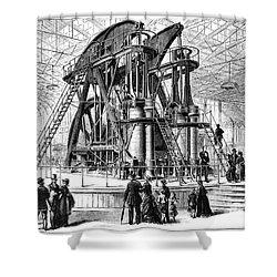 Corliss Steam Engine, 1876 Shower Curtain by Granger