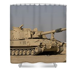 M109 Paladin, A Self-propelled 155mm Shower Curtain by Terry Moore