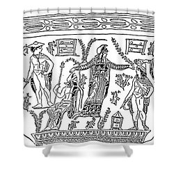 Mythology: Perseus Shower Curtain by Granger
