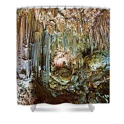 Nerja Caves In Spain Shower Curtain by Artur Bogacki