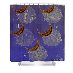 Phases Of An Eclipse Shower Curtain by Science Source