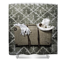 Suitcase Shower Curtain by Joana Kruse