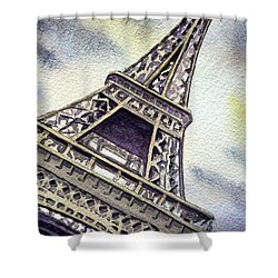 The Eiffel Tower  Shower Curtain by Irina Sztukowski