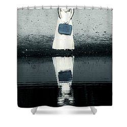 Woman With Suitcase Shower Curtain by Joana Kruse