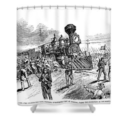 Great Railroad Strike, 1877 Shower Curtain by Granger
