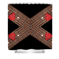 4 By 4 Horizontal Shower Curtain by Andee Design