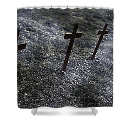 Cemetery Shower Curtain by Joana Kruse