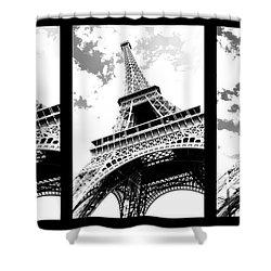 Eiffel Tower Shower Curtain by Elena Elisseeva