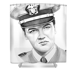 Elvis Presley Shower Curtain by Murphy Elliott