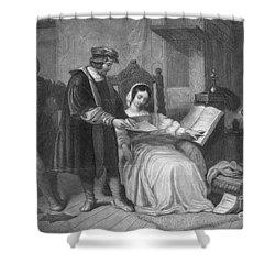 Johannes Gutenberg, German Inventor Shower Curtain by Photo Researchers