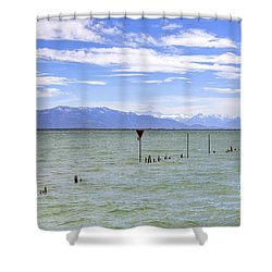Lake Constance Shower Curtain by Joana Kruse