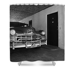 Route 66 Classic Car Shower Curtain by Frank Romeo