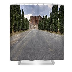 San Galgano Shower Curtain by Joana Kruse