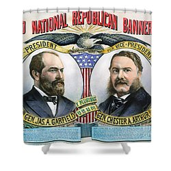 Presidential Campaign, 1880 Shower Curtain by Granger