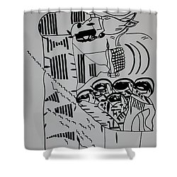 The Wise Virgins Shower Curtain by Gloria Ssali