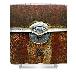 54 Buick Emblem Shower Curtain by Steve McKinzie