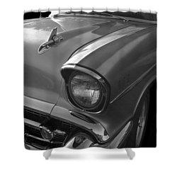 '57 Chevy Bel Air Shower Curtain by Debra and Dave Vanderlaan