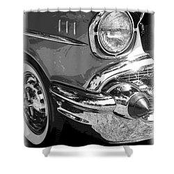 57 Chevy  Shower Curtain by Steve McKinzie