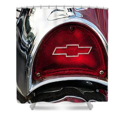 57 Chevy Tail Light Shower Curtain by Paul Ward