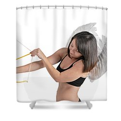 Cupid The God Of Desire Shower Curtain by Ilan Rosen