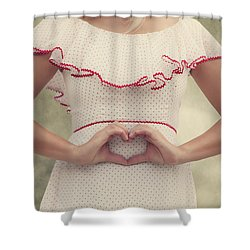 Heart Shower Curtain by Joana Kruse